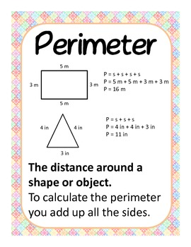 Common Core Area and Perimeter - posters, worksheets, task cards, test.