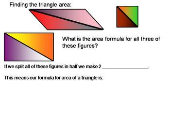 Common Core Area of Polygons Notes/Activity