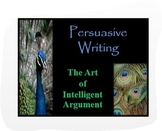 Common Core Argumentative-Persuasive Writing PPT:Media Analysis & Exit Activity