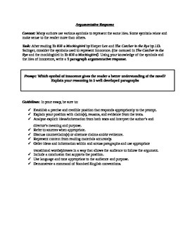 Common Core Argumentative Response
