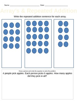 Common Core- Arrays and Repeated Addition