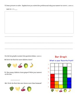 Common Core Assessment 1st Grade - 1st quarter