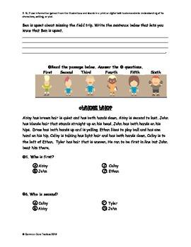 Common Core Assessment 2.RL.7 Illustrations