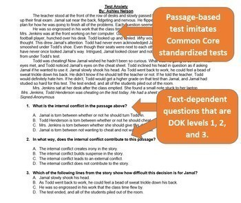 Common Core Assessment:  Short Stories Unit Test