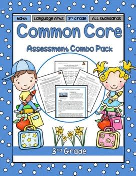 3rd Grade Language Arts and Math Assessment Combo Bundle
