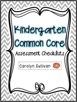Kindergarten Common Core Assessment Checklist - Reading and Math