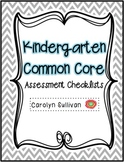 Kindergarten Common Core Assessment Checklist - Reading and Math