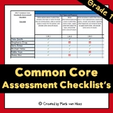 Common Core Assessment Checklists