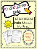 Assessment Data Sheets for Kindergarten