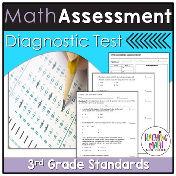 Common Core Assessment Diagnostic Test Prep - Grade 3