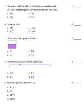 Common Core Assessment Diagnostic Test Prep - Grade 4