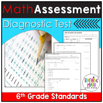 Common Core Assessment Diagnostic Test Prep - Grade 6