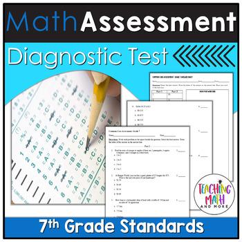 Common Core Assessment Diagnostic Test Prep - Grade 7