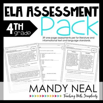 Common Core Assessment Pack-ELA Grade 4