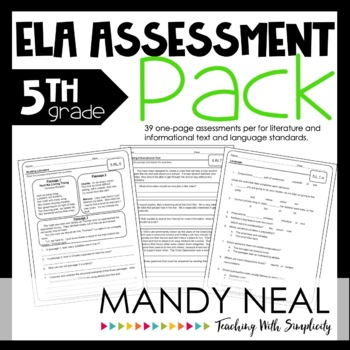Common Core Assessment Pack-ELA Grade 5
