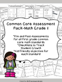 Common Core Math Assessment First Grade