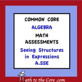Common Core Assessment Warm Up Math Algebra Seeing Structu