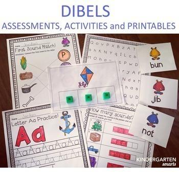 Kindergarten DIBELS and Math Assessments (the bundle)