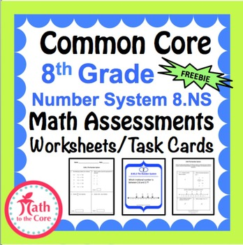 Common Core Assessments Math - 8th - Eighth Grade - Number ...