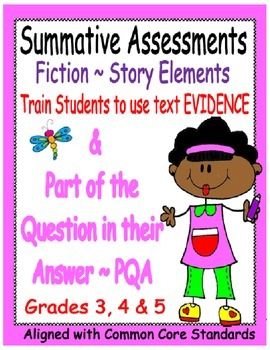 Story Elements Assessments ~ Grades 3, 4 & 5