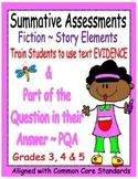 Story Elements Assessments ~ Grades 3, 4 & 5