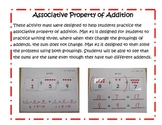 Common Core: Associative Property of Addition Mats