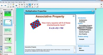 Associative Property of Multiplication for the SMART Board