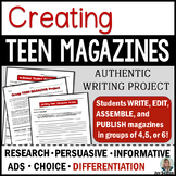 Authentic Writing Project: Creating Teen Magazines - Common Core Aligned