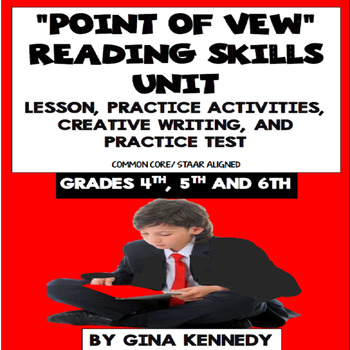 """""""Point of View"""" Lesson, Reading/Writing Activities and Pra"""