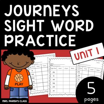Common Core: BUNDLE HM Journeys first grade Unit 1 sight word practice!