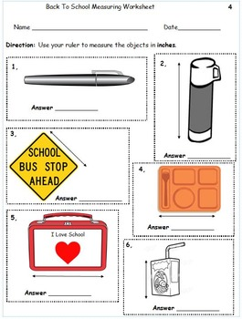 Common Core Back to School Measurement 5 Worksheets Math Center