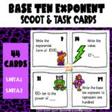 Powers of Ten Exponent (Base 10) Scoot & Task Card Set  5.NBT.A.2
