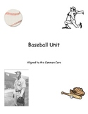 Common Core Baseball Unit