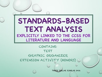 """Chekhov's """"The Looking Glass"""" w/ Graphic Organizer:  Common Core-Based Analysis"""