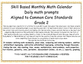 Common Core Based Daily Math Prompts: GRADE 2