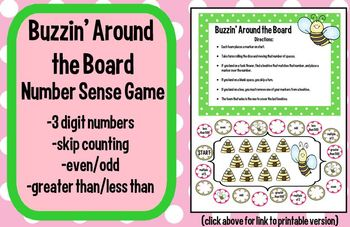 Common Core Based Math Number Sense Review Game for SMARTboard