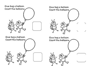 Number Sense 1-10 Balloons and More Printables Common Core *22 pages