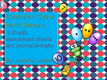 Number Sense 1-10 Balloons and More Printables Common Core