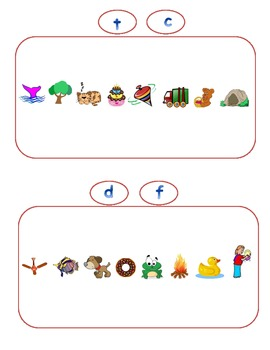 Common Core Beginning Sound Pattern Game