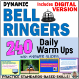 ELA Bell Ringers - 240 Daily Warm Ups with Answer Slides (Standards-Aligned)