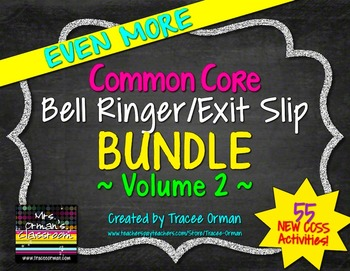 English Bell Ringers Exit Slips Pack Volume 2
