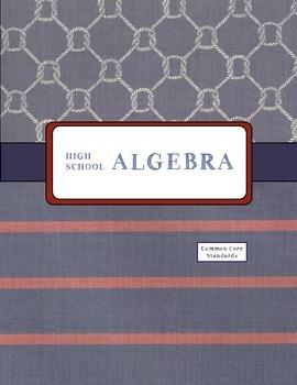 Teacher Binder for Algebra 1