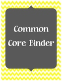 Common Core Binder Cover