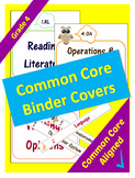 Common Core Binder Covers for ELA and Math Domains - 4th Grade