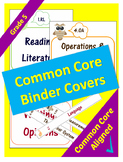 Common Core Binder Covers for ELA and Math Domains - 5th Grade