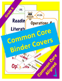 Common Core Binder Covers for ELA and Math Domains - 6th Grade