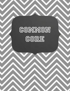 Common Core Binder with Chevron & Blackboard-look