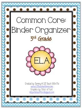Common Core Binder Organizer: Third Grade