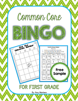 Common Core Bingo for 1st Grade {Free Sample} {Find the Un