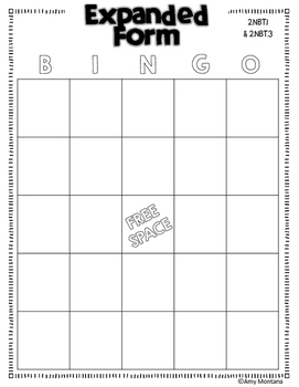 Common Core Bingo for 2nd Grade